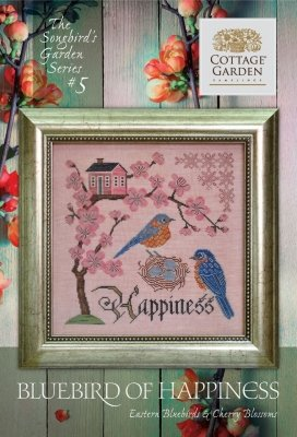 Cottage Garden Samplings The Songbird's Garden Series #5 Bluebird of Happiness