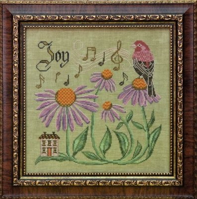 Cottage Garden Samplings The Songbird's Garden Series #10 Sing for Joy