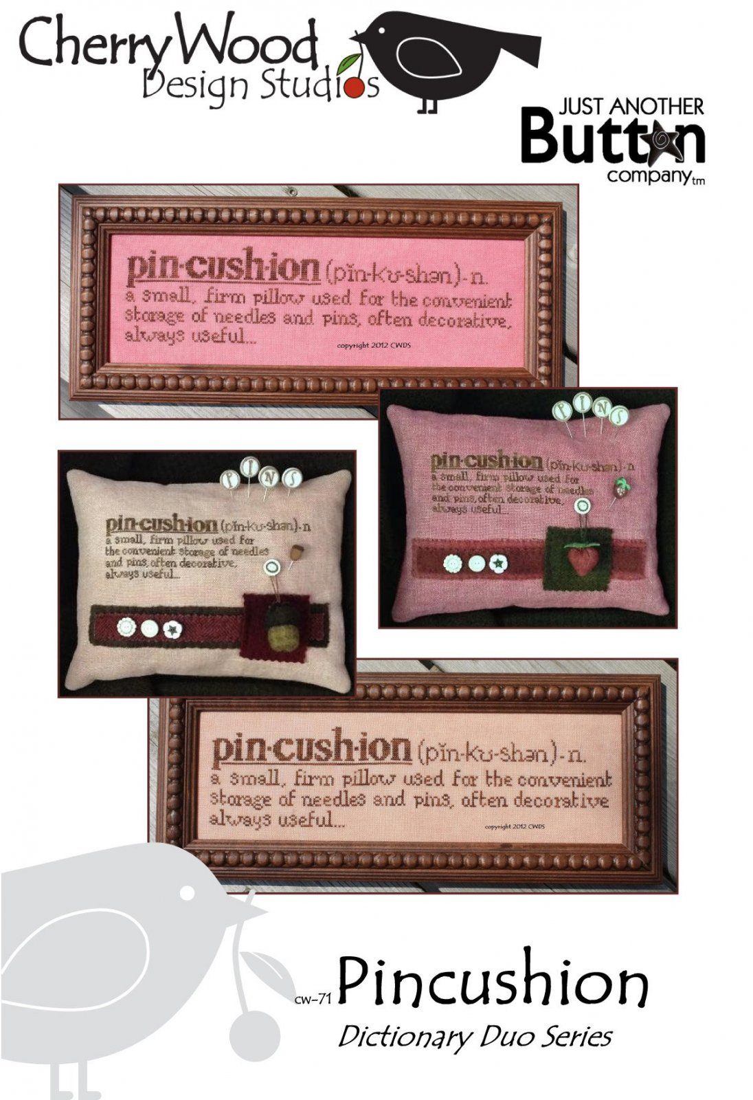 Cherry Wood Designs Pincushion Definition