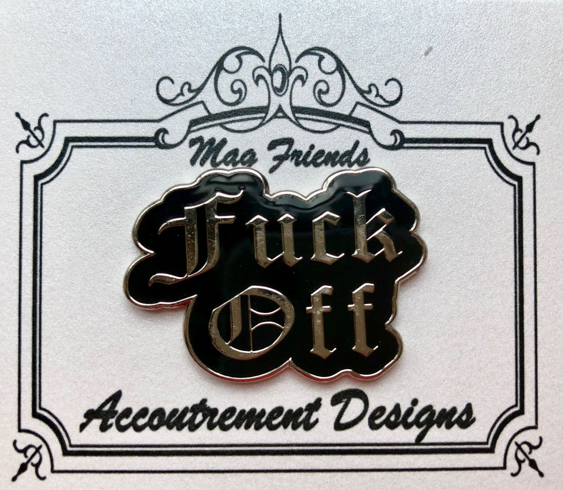 Accoutrement Designs F*ck Off needle minder