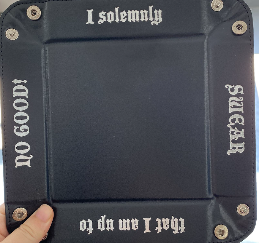 Accoutrement Designs Black I Solemnly Swear snap tray