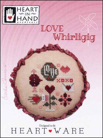 Heart in Hand Love Whirligig
