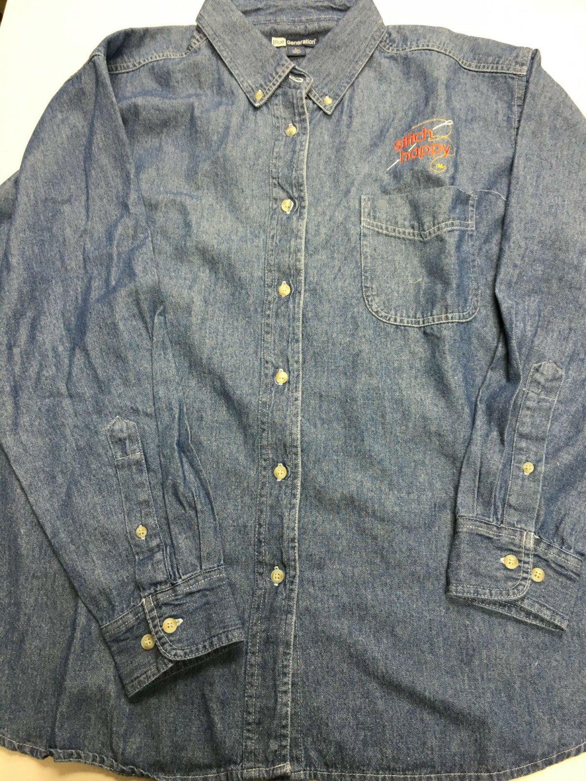 Stitch Happy denim shirt sz L