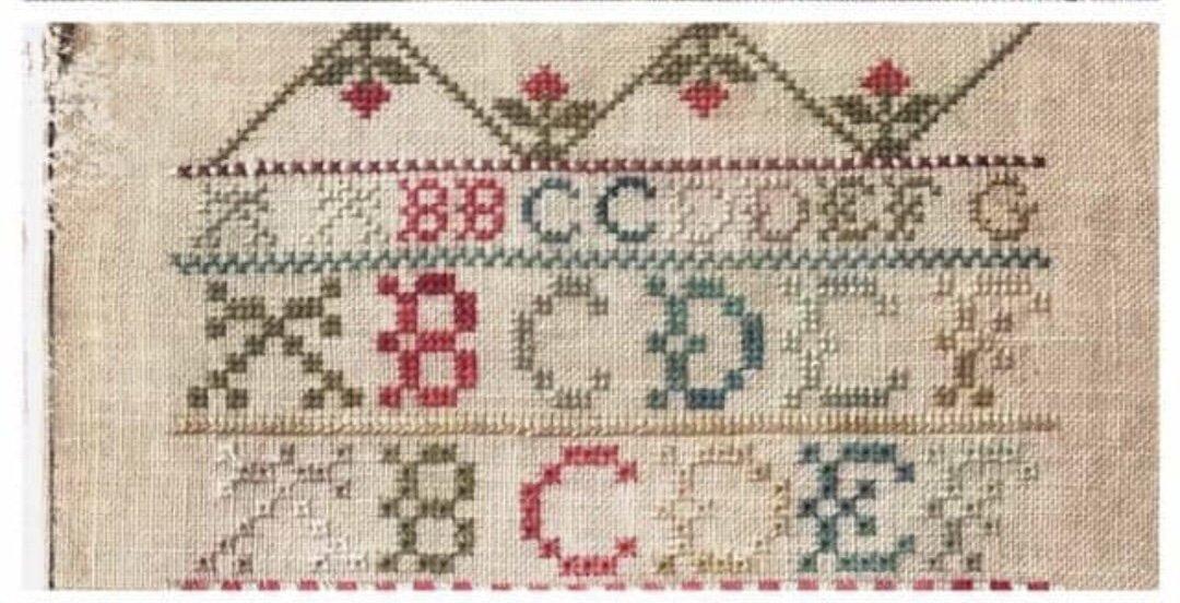 Lucy Beam Antique Family Sampler 1839