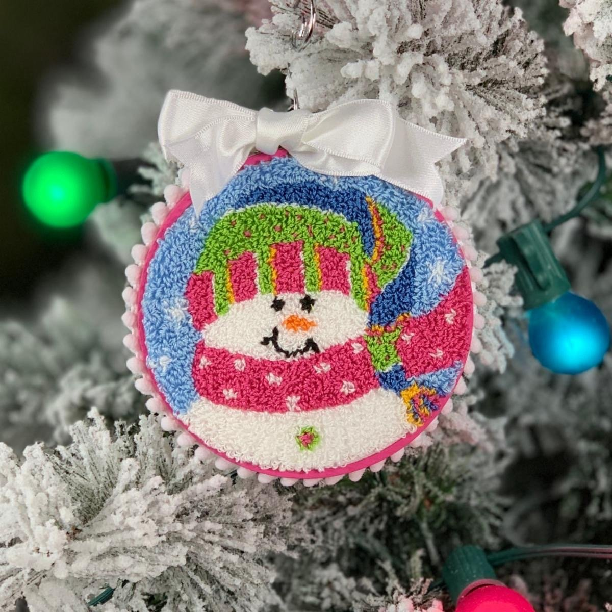 Pepperberry Designs Sparkles Snowgirl Punch Needle