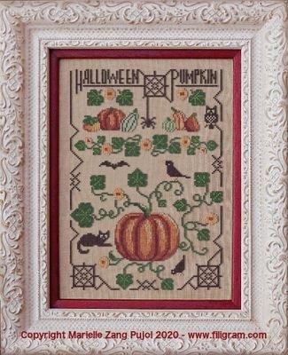 Filigram Halloween Pumpkin