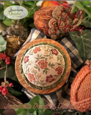 Jeannette Douglas Designs Fall Posey w/fabric and threads