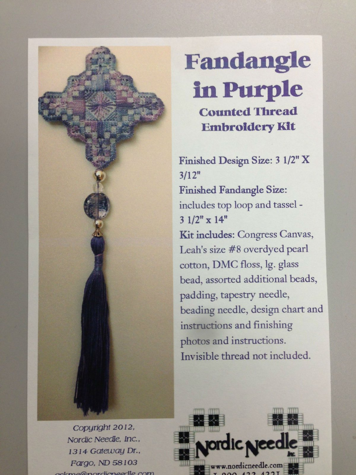 Nordic Needle Fandangle in Purple