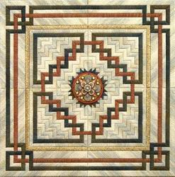 From Nancy's Needle Terracotta Celtic Knot Quilt