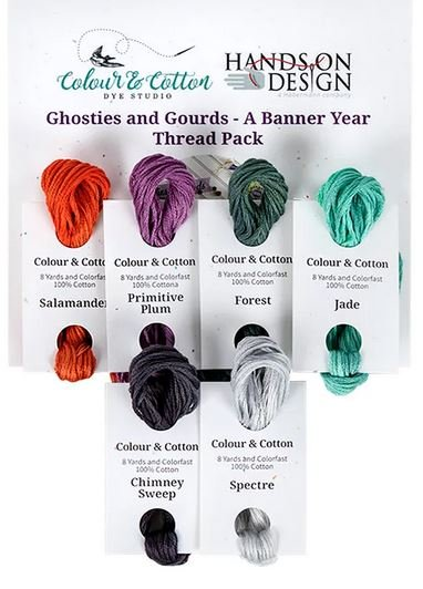 Colour & Cotton thread pack for Hands On Ghosties and Gourds