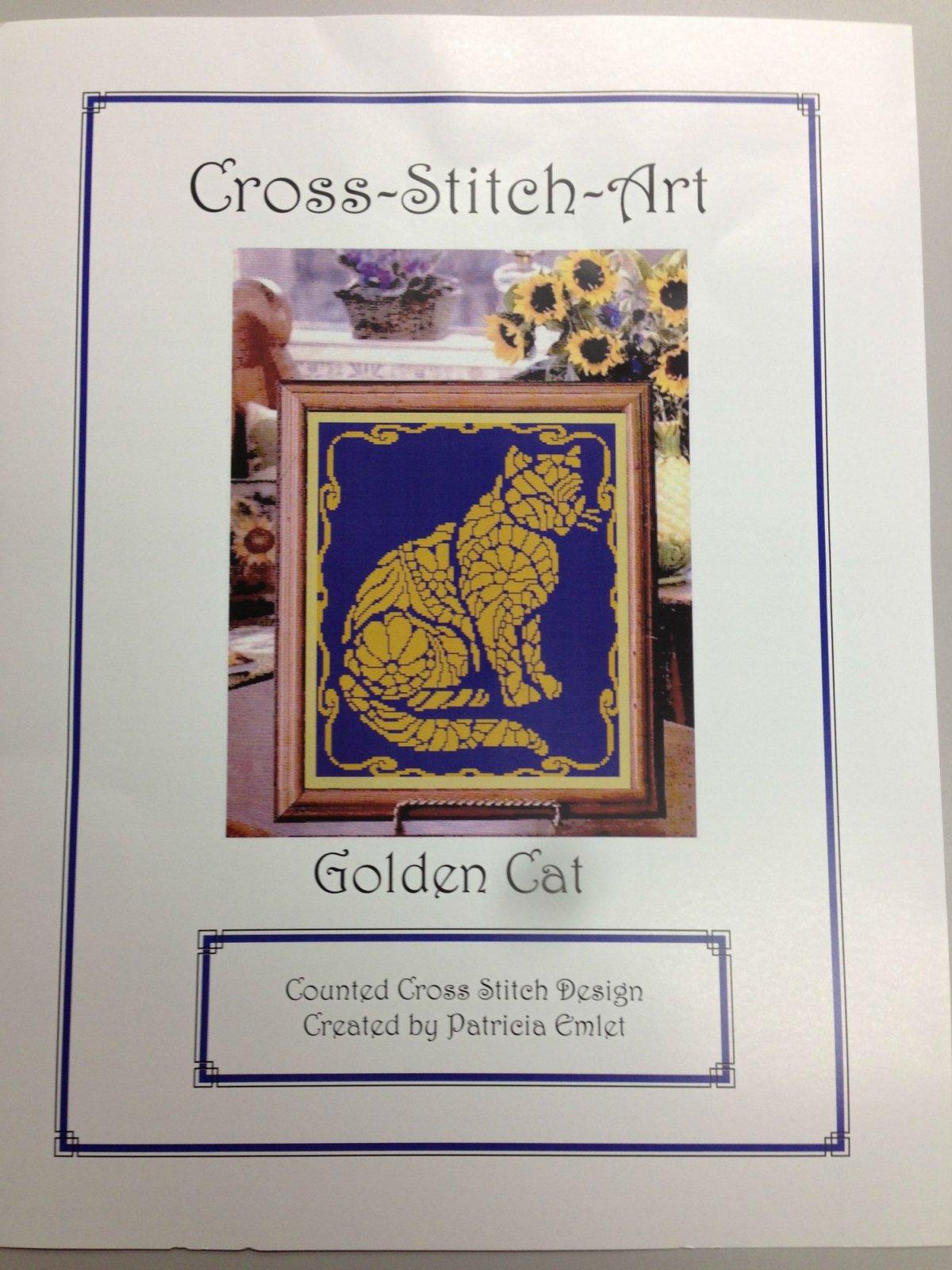 Cross-Stitch-Art Golden Cat