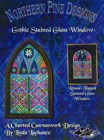Northern Pine Designs Gothic Stained Glass Window