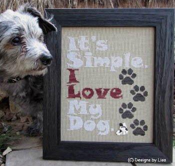 Designs By Lisa I Love My Dog