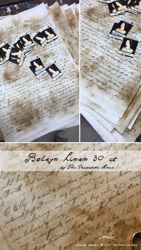 The Primitive Hare Boleyn fabric 30ct 38 x 49cm