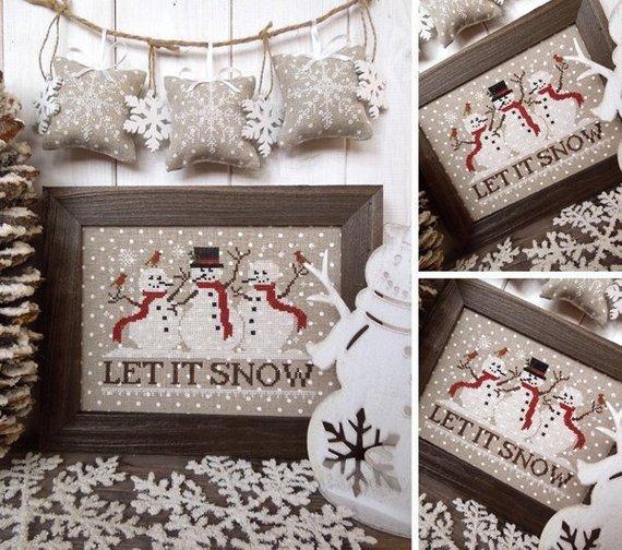 The Little Stitcher Let It Snow
