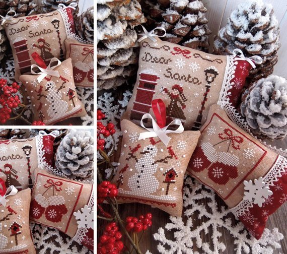 The Little Stitcher Christmas Ornaments