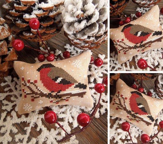 The Little Stitcher The Little Birds Calendar: December - Bullfinch