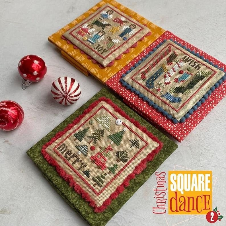 Heart in Hand Christmas Square Dance 2 w/buttons