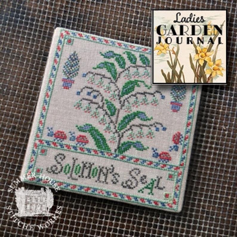 Summer House stitche works Ladies Garden Journal: Solomon's Seal 3 of 6