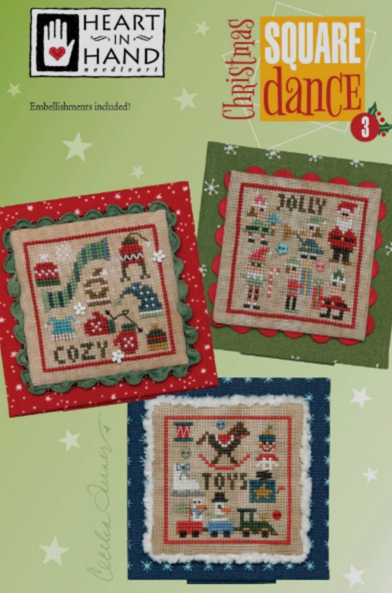 Heart in Hand Christmas Square Dance 3 w/buttons