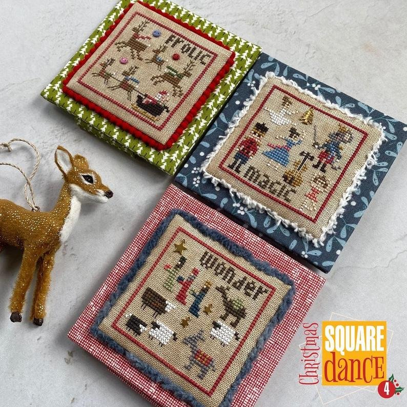 Heart in Hand Christmas Square Dance 4 with buttons