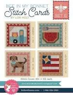 Bee in My Bonnet Stitch Cards Set E