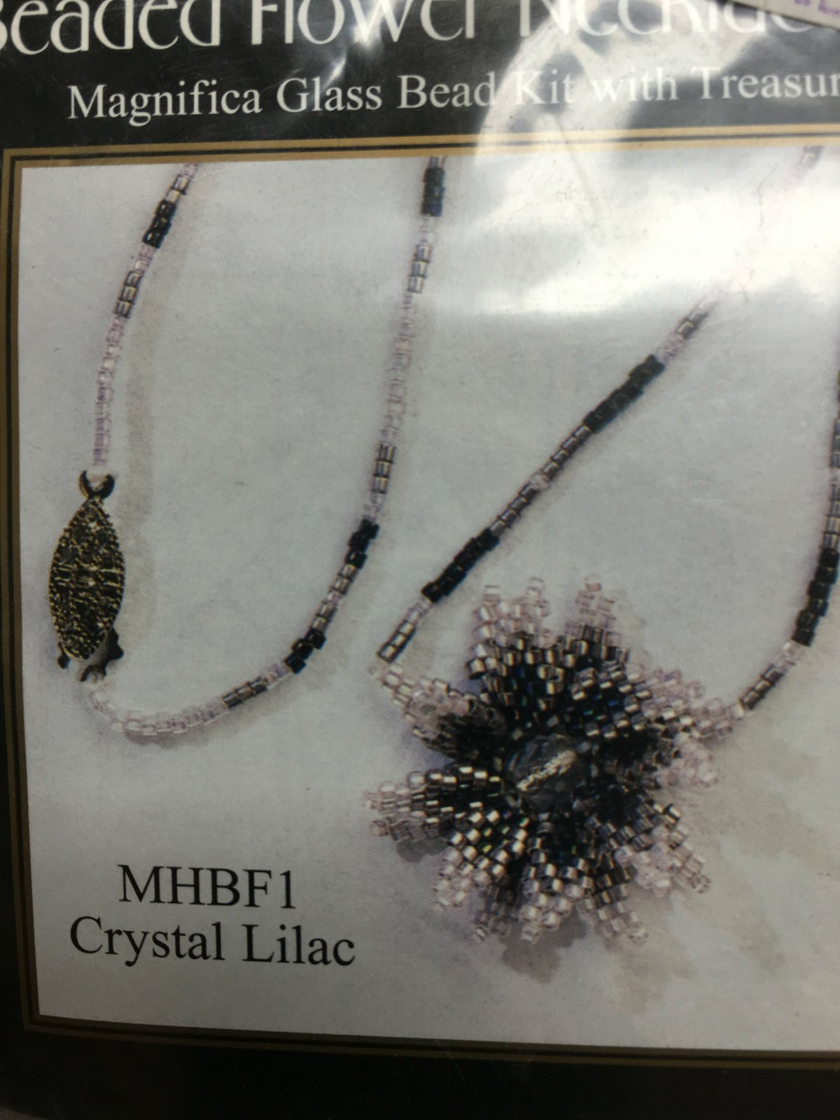 Mill Hill Beaded Flower Necklace Crystal Lilac MHBF1 kit