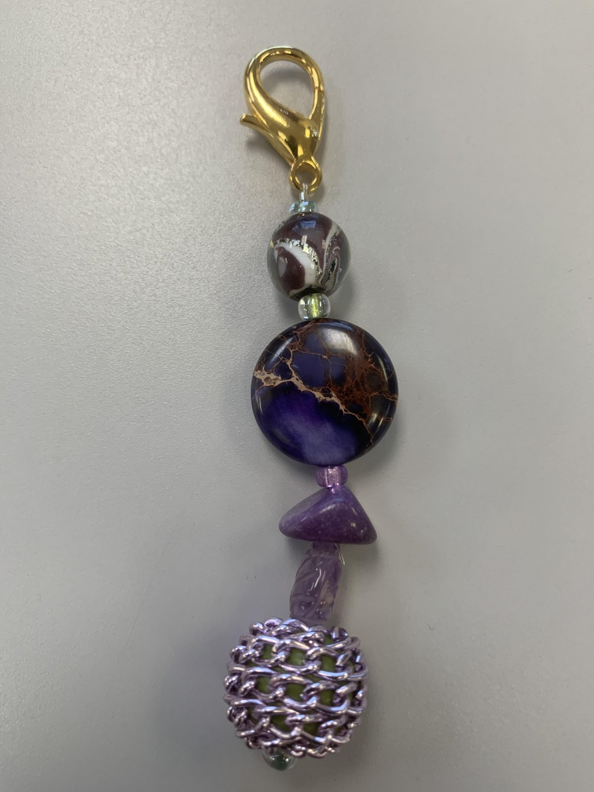 Dottie's Purple scissor fob