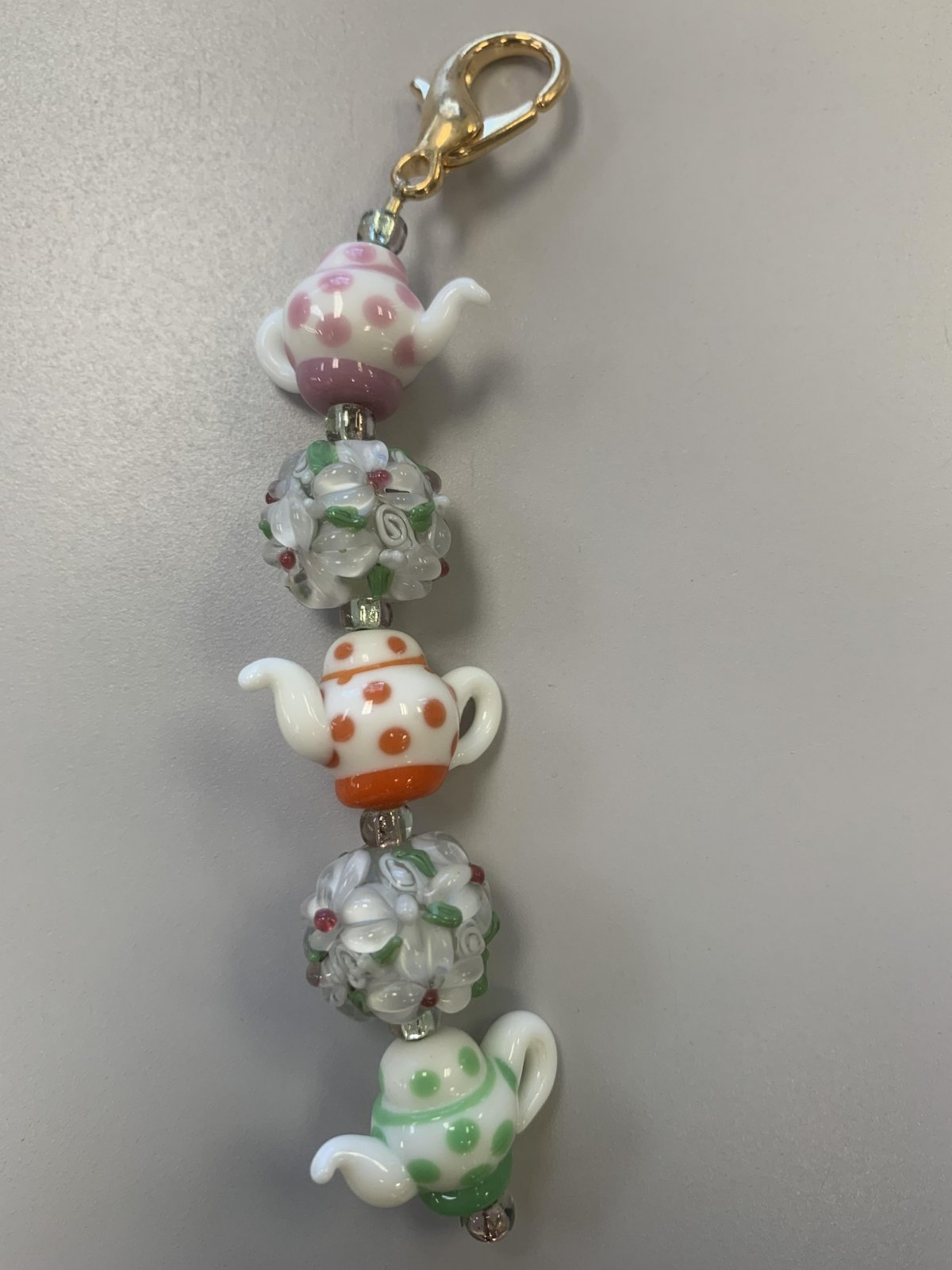 Dottie's Teapots #1 Scissor Fob