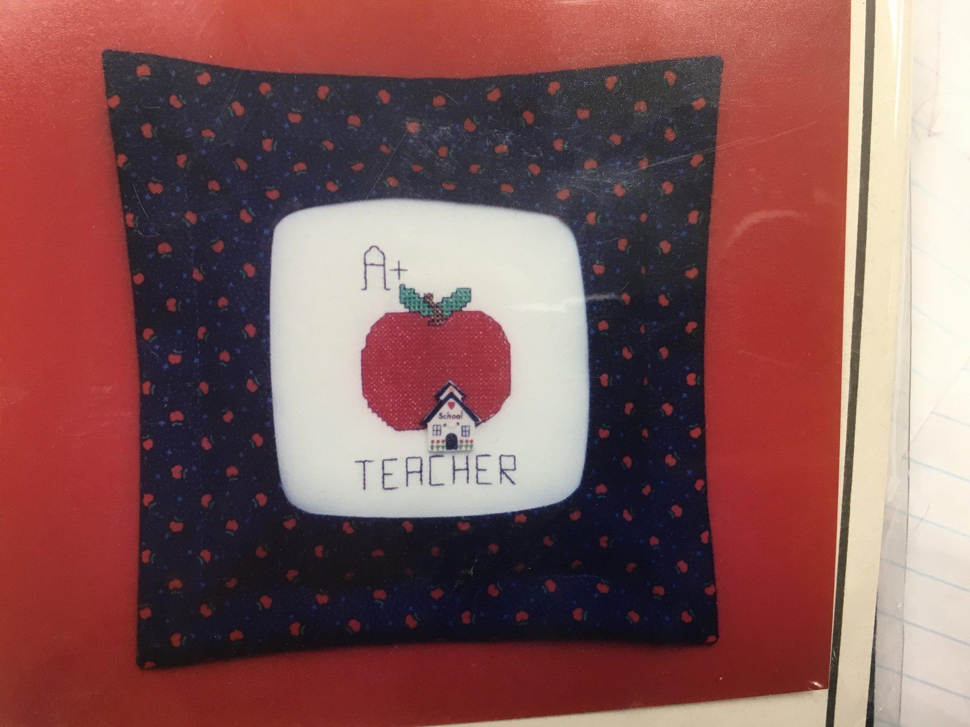 Stitch-A-Gift  A+ Teacher w/pillow