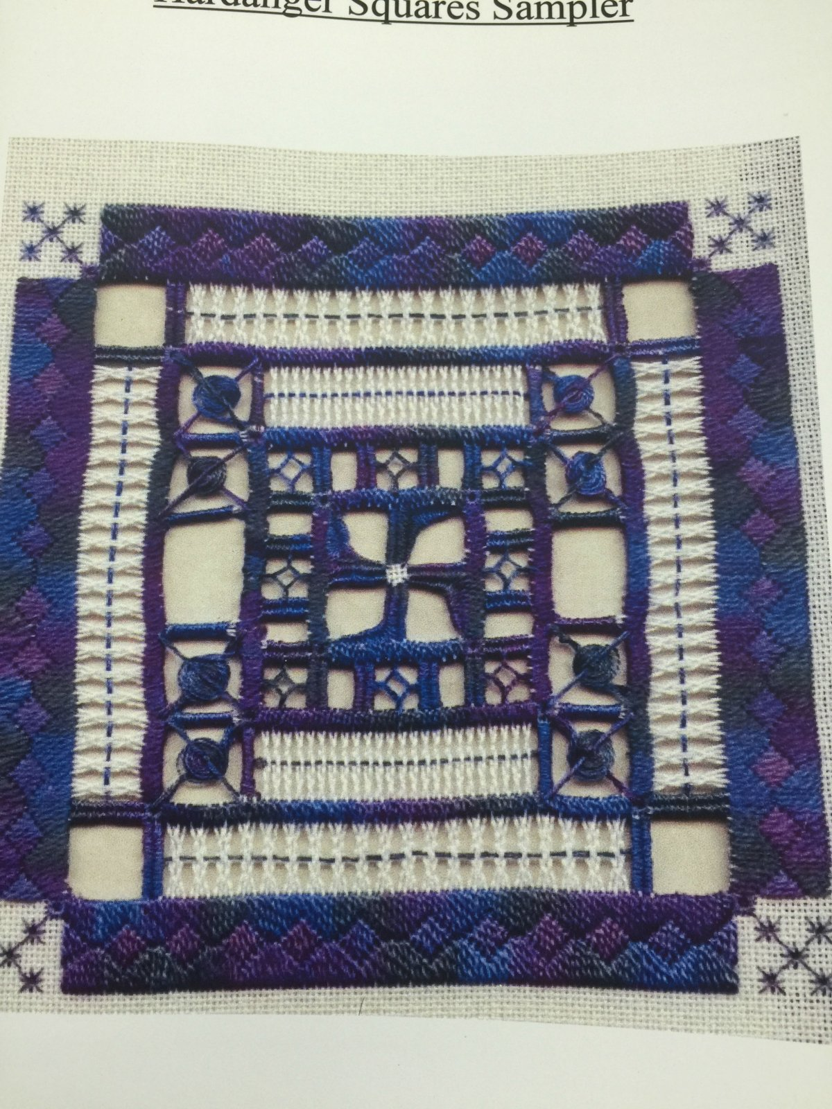 Adventures in Stitching Hardanger Squares Sampler