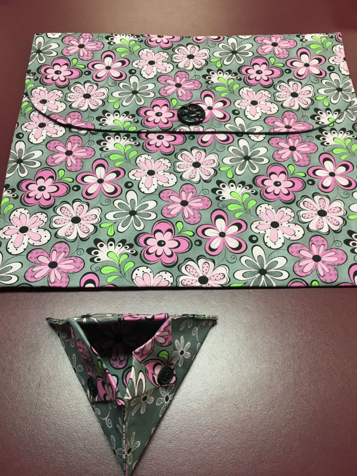 Project bag and ort bag - pink floral