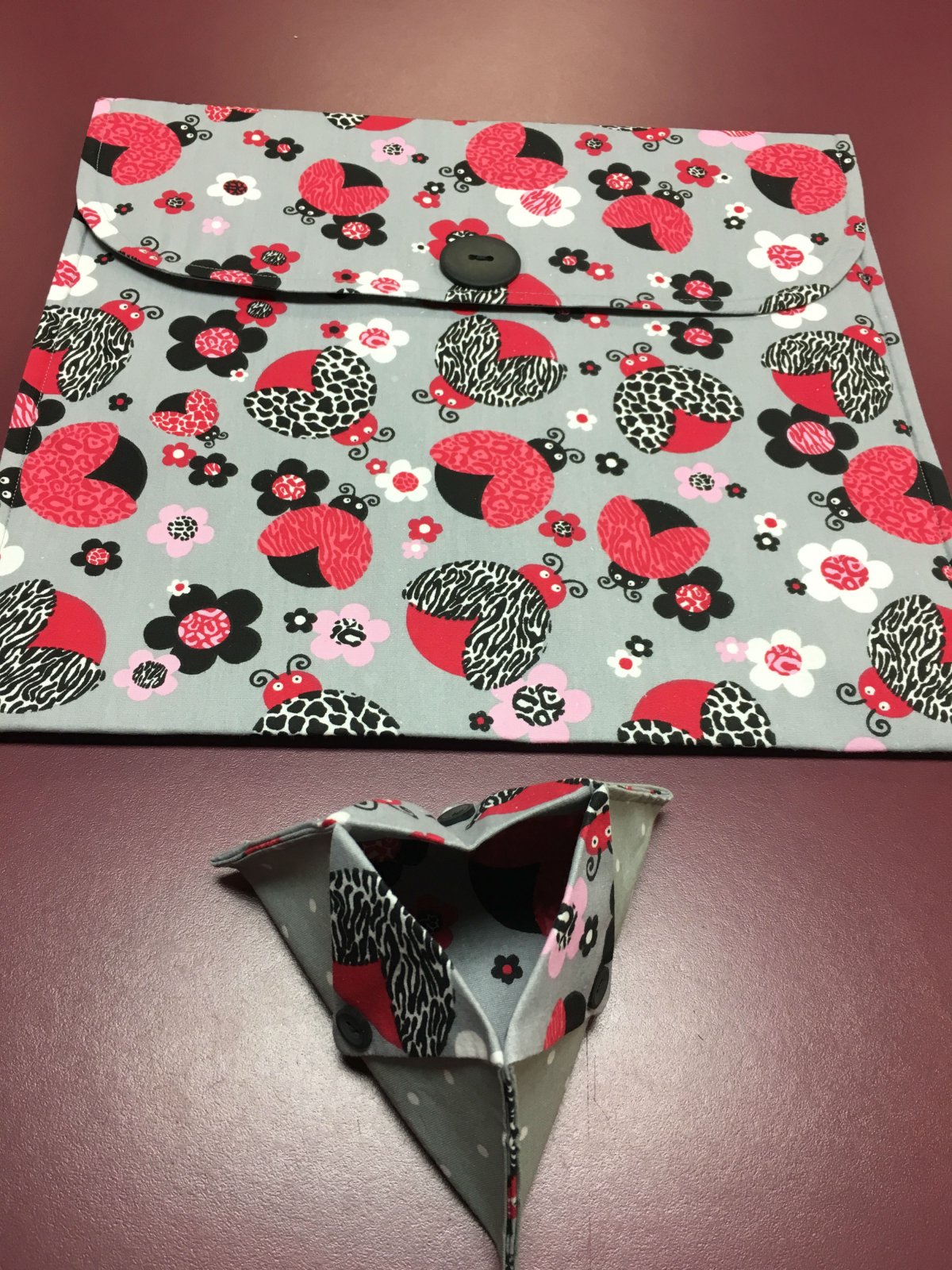 Project bag and ort bag - Ladybugs