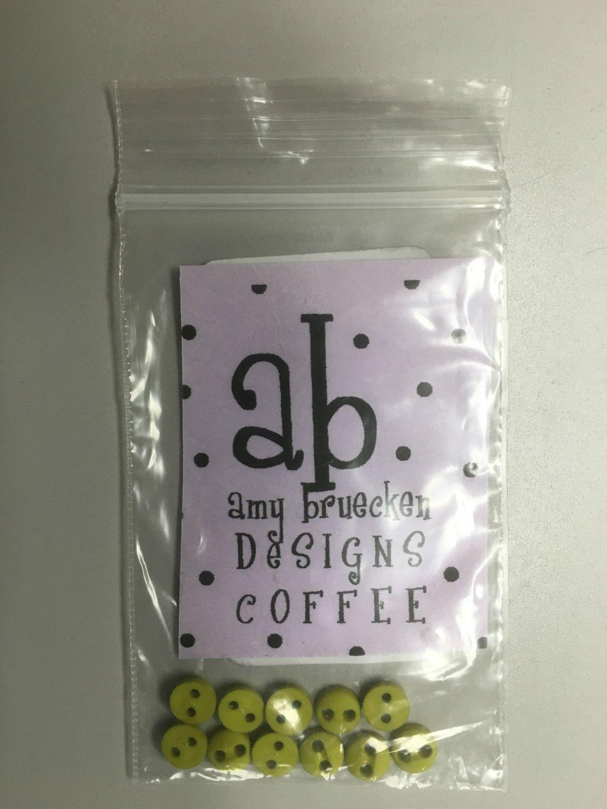 Amy Bruecken Designs But First, Coffee! button pack