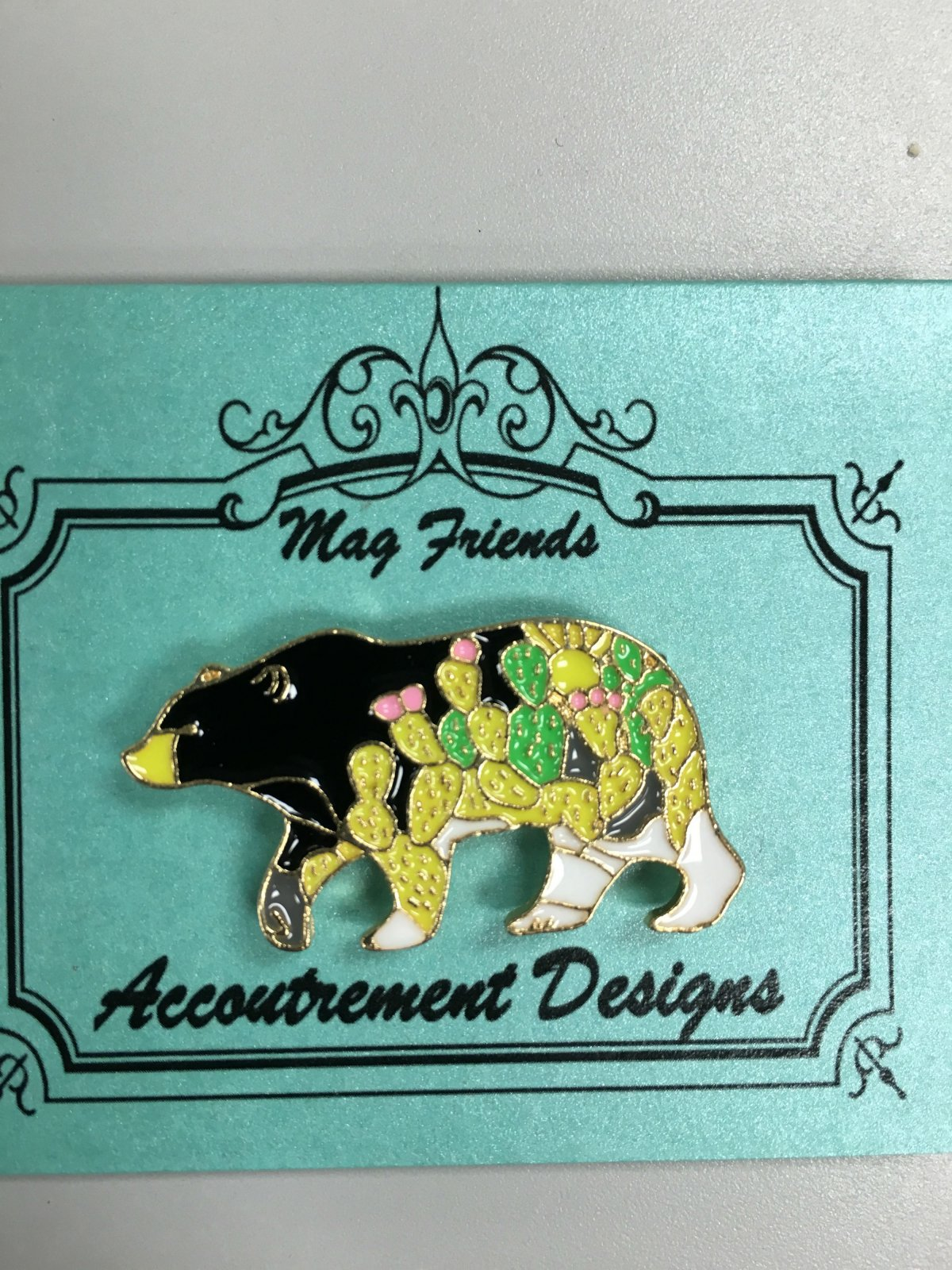 Accoutrement Designs Colorful Black Bear