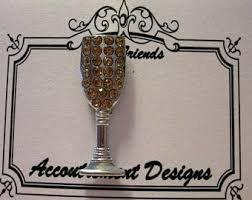 Accoutrement Designs White Champagne Glass