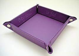 Accoutrement Designs Purple My Soul is Fed snap tray