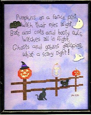 Jar Designs Pumpkins On A Fence Post