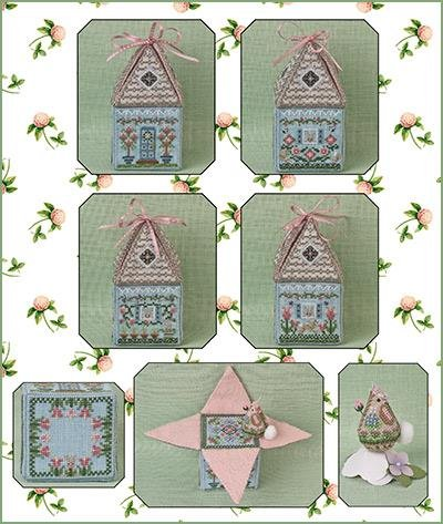 Just Nan Cloverly's Bunny Bungalow w/embellishments Ltd Edition