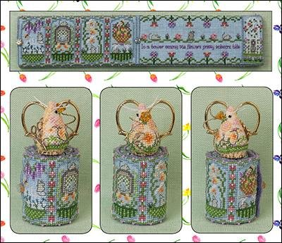 Just Nan Spring Mouse Scissor Roll Limited Edition w/embellishments