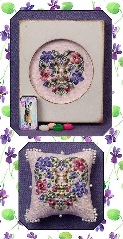 Just Nan Heart of Spring w/embellishments