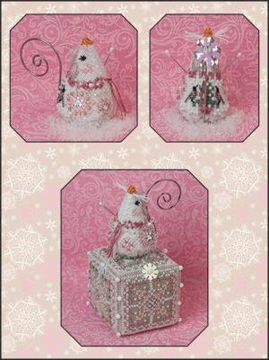 Just Nan Crystal Snowlady Mouse