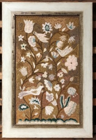 Kathy Barrick An Antique Tapestry punch needle