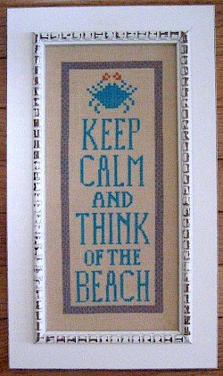 Samplers Revisited Keep Calm and Think of the Beach