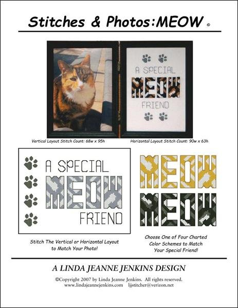 Linda Jeanne Jenkins The Stitches & Photos Collection MEOW A Special Friend
