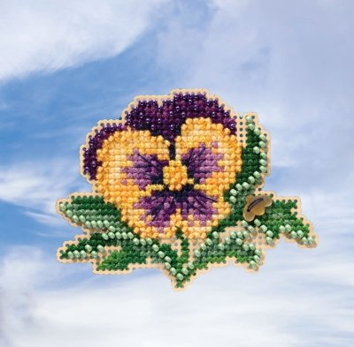 Mill Hill Spring Bouquet Collection Tricolor Pansy MH18-1911