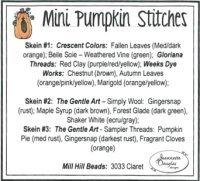 JDD Mini Pumpkin Stitches Thread Pack