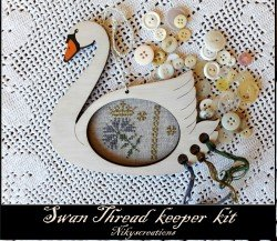 Nikyscreations Swan thread Keeper Kit