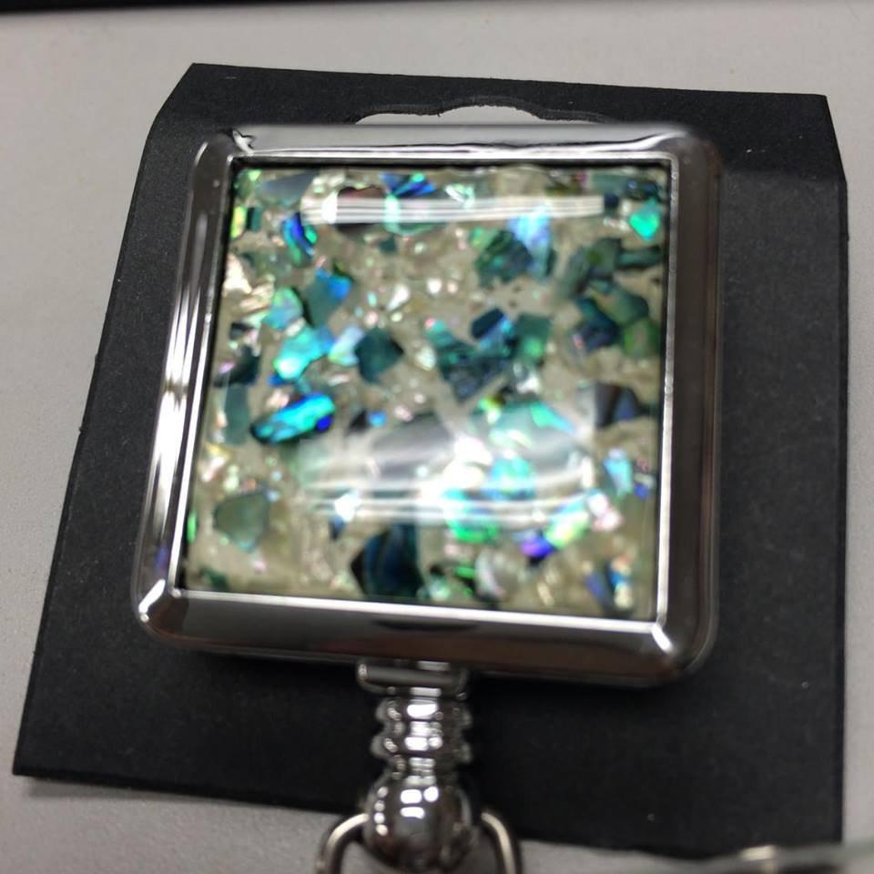 Nordic Needle Turquoise Stone Retractable Reel