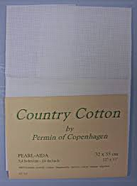 Permin Of Copenhagen Country Cotton Pearl-Aida 12x13 14ct